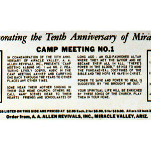 10th Anniversay Campmeeting (back)