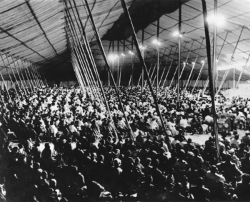 Crowd in A. A. Allen Tent
