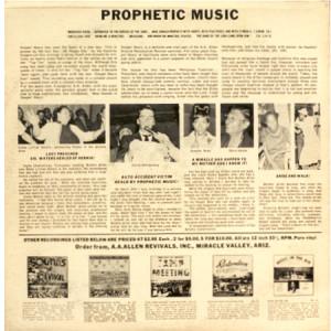 Prophetic Music Album (back)