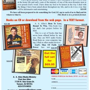 A A Allen 5 book offer details